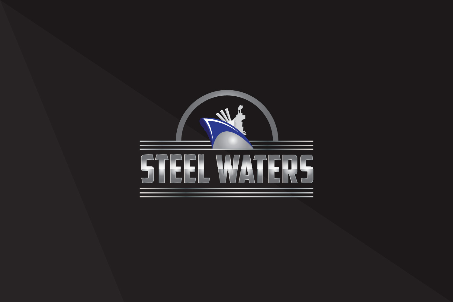 Steel Waters Game Logo Design
